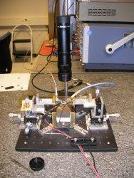 Dynamic magnetoresistance measurement setup at the Université Grenoble Alpes.